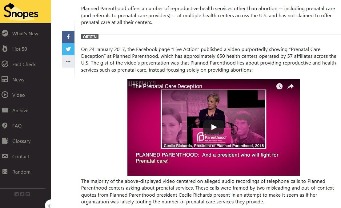 Snopes Origin Live Action on PP Prenatal Screen Feb 23 2017