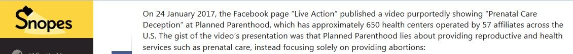 Snopes prenatal care original Live Action FB post Feb 23 2017