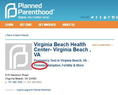 VIrginia Beach VA PP Prenatal