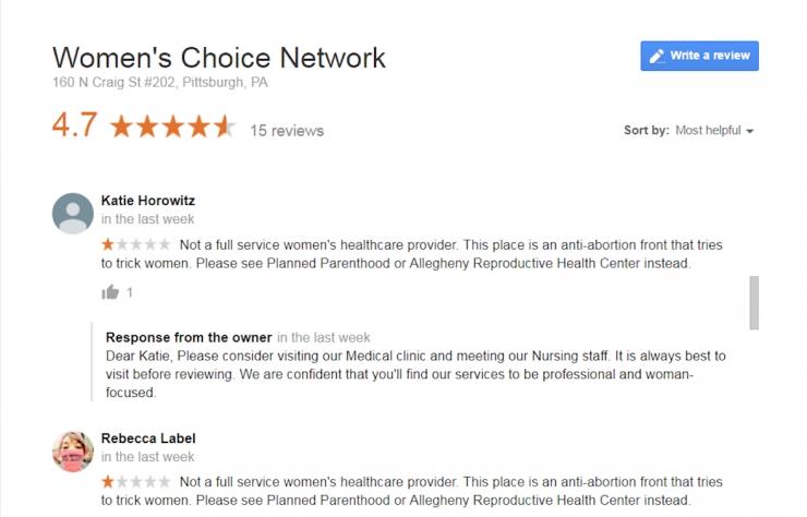 pp reviews pregnancy center