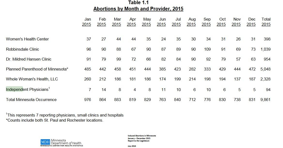 Minnesota Abortions 2016
