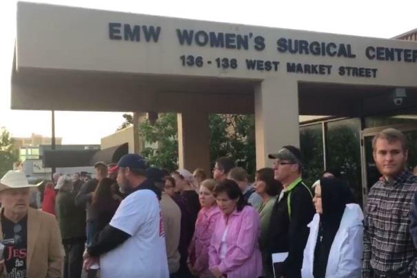 Eva Edl at EMW abortion clinic