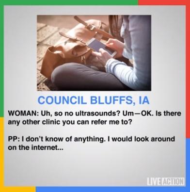 PLanned Parenthood Iowa told patient to Google Prenatal Care