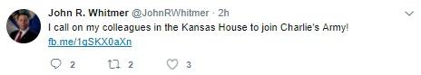 Rep. John R. Whitmer tweet supporting Charlie Gard