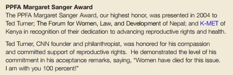 2004 Sanger award to Ted Turner CNN