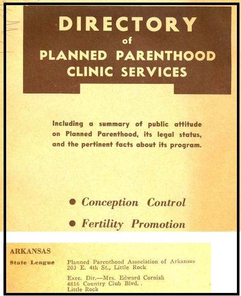 Hilda Cornish Arkansas Eugenics Planned Parenthood