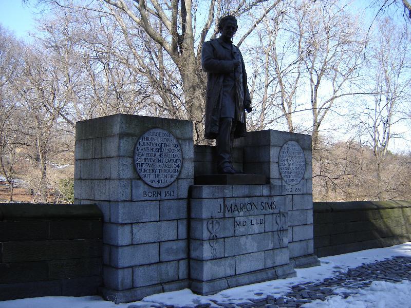 J Marion Sims Statute NYC