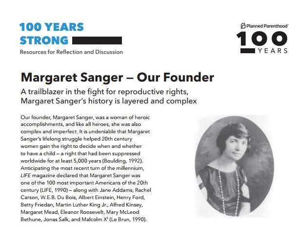 Margaret Sanger hero trailblazer Planned Parenthood