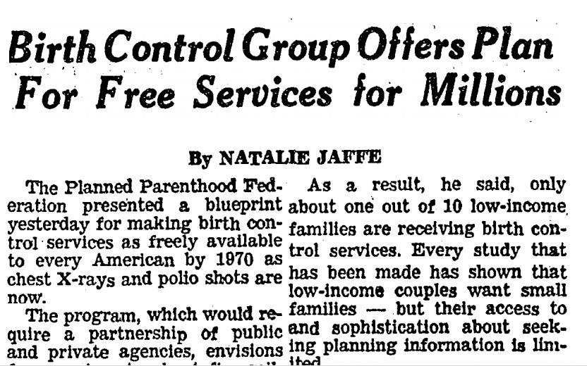 1966 Planned Parenthood Blueprint