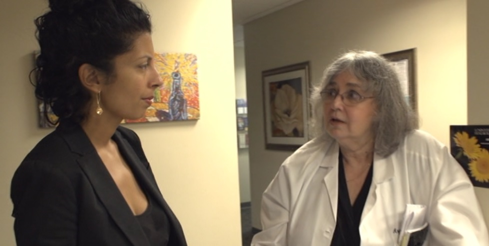 Dr. Angela LaFrancheli and Punam Kumar Gill in Hush the Documentary