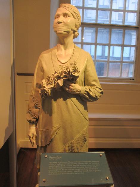 Margaret Sanger Statute Old South Meeting House credit Halperns