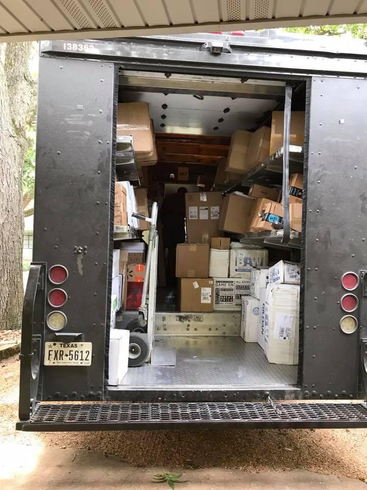 boxes in trucks