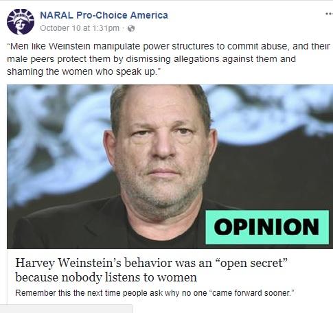 NARAL On Weinstein