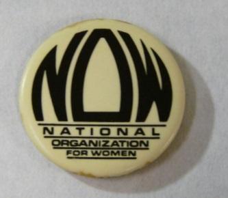NOW vintage pin