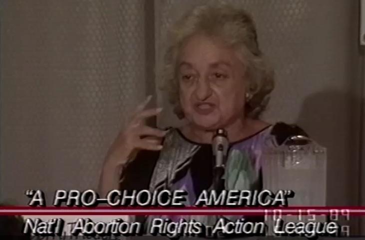 Betty Friedan speaks to NARAL hitstory of NOW