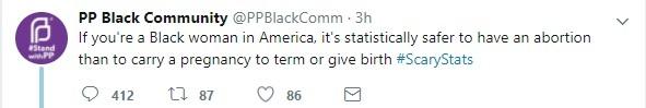 PP Black abortion tweet Oct 31