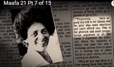Rep. June Franklin was one of many Black women who opposed abortion.