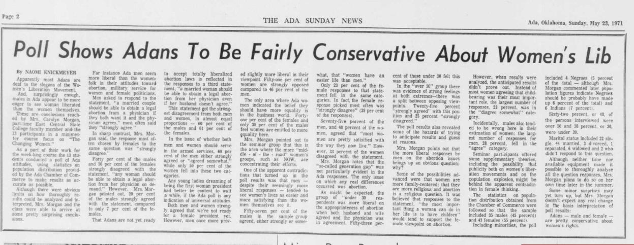 Ada 1971 views on abortion