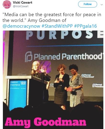 Amy Goodman Planned Parenthood Award