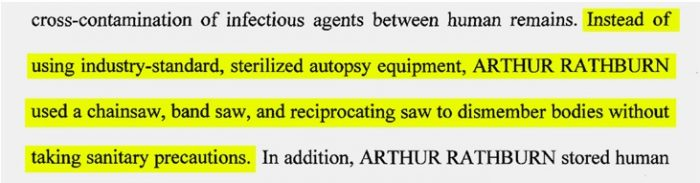 Arthur Rathburn, body parts broker, fetuses: From a January 2016 federal grand jury indictment of Arthur Rathburn. (Source: U.S. court filing)
