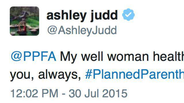 Ashley Judd Planned Parenthood