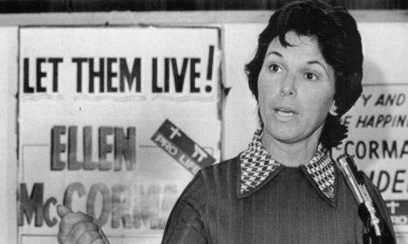 Ellen McCormack pro-life presidential handout
