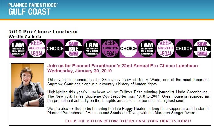 Linda Greenhouse keynote for Planned Parenthood