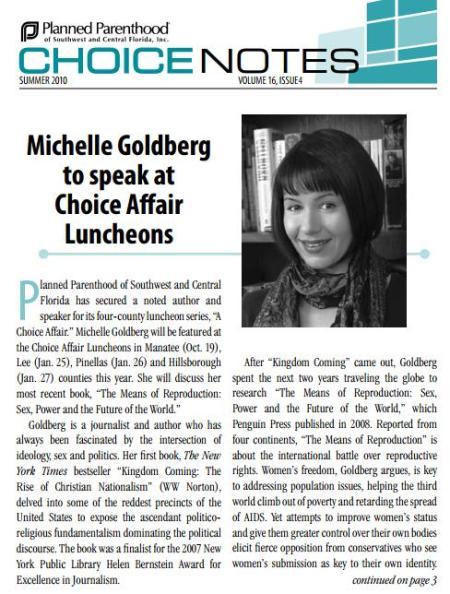 Michelle Goldberg PLanned Parenthood