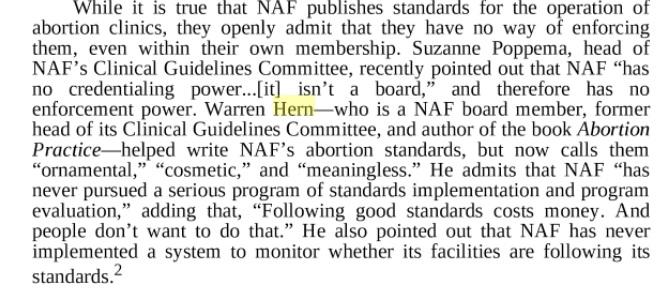 NAF standards meaningless says Warren Hern Lime 5