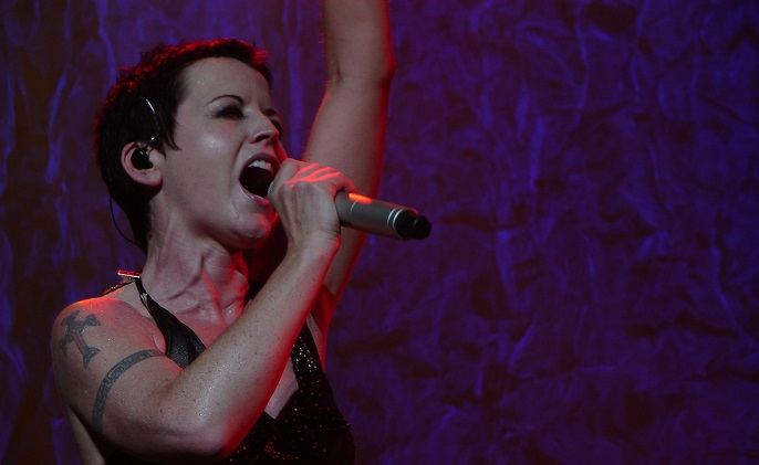 Dolores O'Riordan, lead singer of The Cranberries.