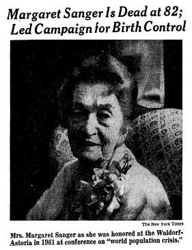Margaret Sanger Dies 1966