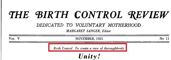 Planned Parenthood, eugenics