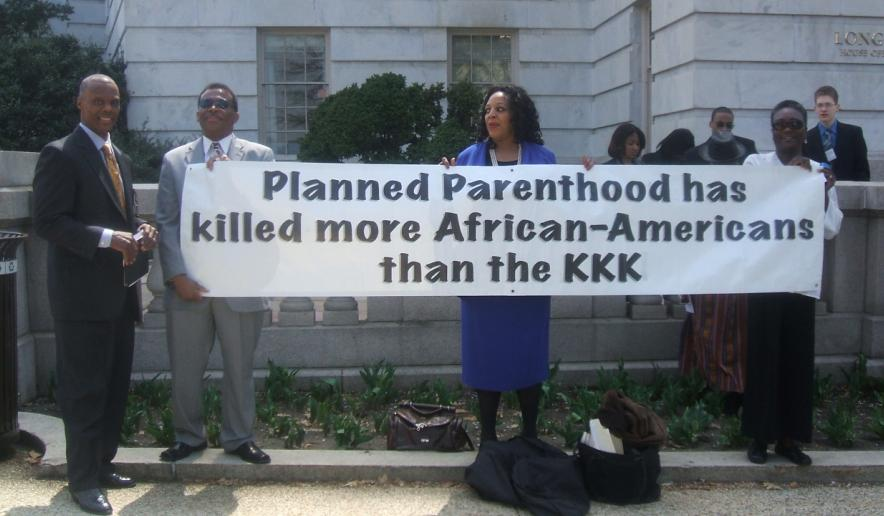 Image: Black leaders compare Planned Parenthood to the Klan