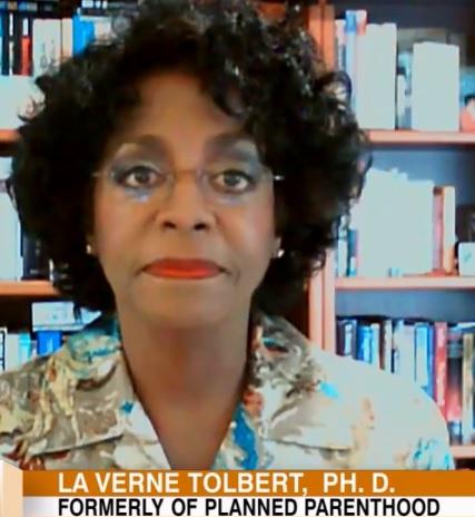 Image: Dr La Verne Tolbert former Planned Parenthood board director