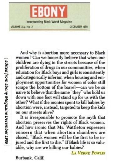 Image: Ebony Magazine letter