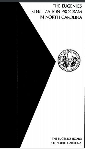 North Carolina Eugenics Program document
