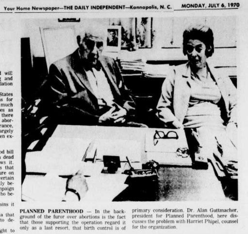 Planned Parenthood, Harriet Pilpel