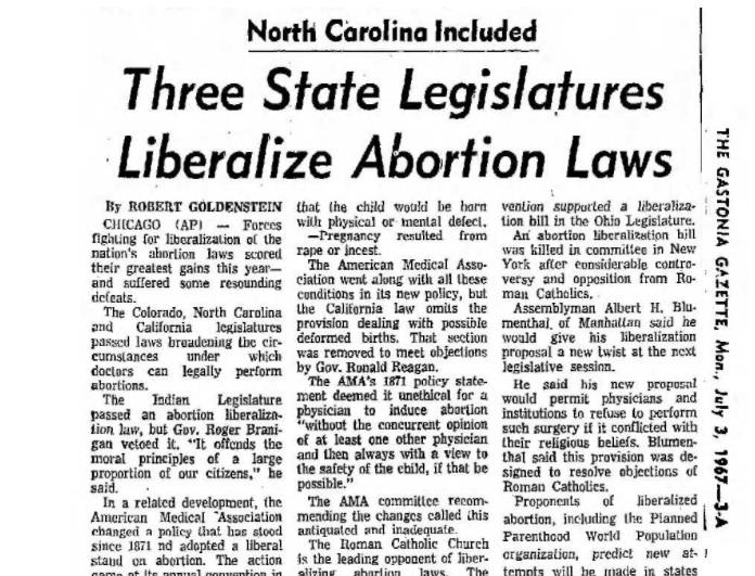 1967 three states liberalize abortion