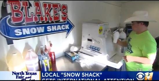 Image: Blake Pyron owns Blake's Snow Shack