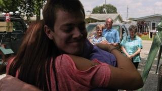 David Scotton meets his birth mom