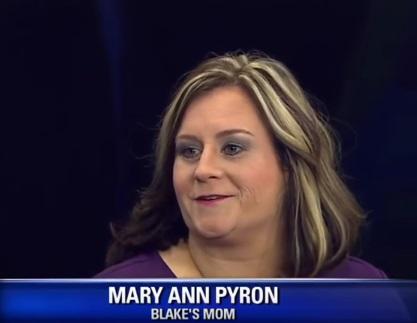 Mary Ann Pyron mother of Blake Pyron