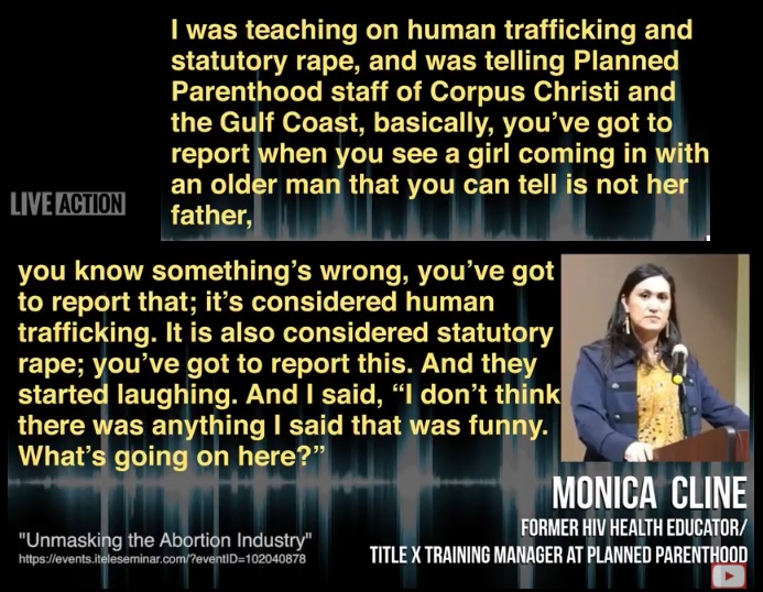 Image: Aiding Abusers Planned Parenthood laughs Former Worker Monica Cline
