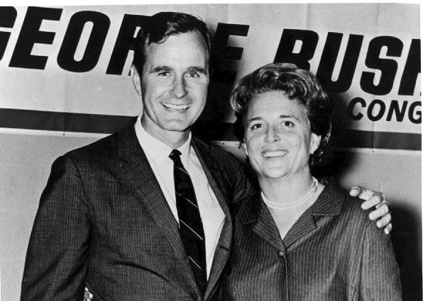 Image: George HW Bush elected to Congress 1966 with wife Barbara (Image credit: Credit: George Bush Presidential Library and Museum)
