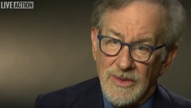 Image: Steven Spielberg in Aiding Abusers video from Live Action