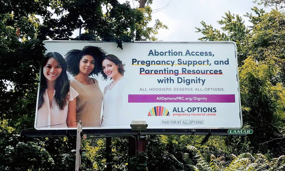 Image: All Options abortion billboards (Image credit Facebook)