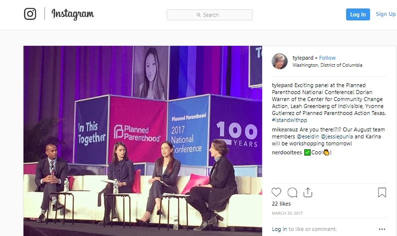 Image: Dorian Warren leader of Center for Community Change attends 2017 Planned Parenthood conference (Image credit: Instagram)