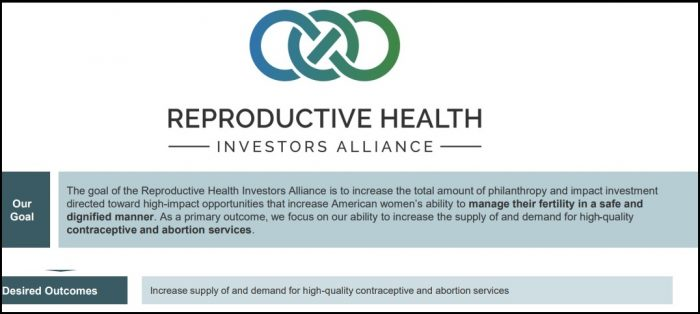 Image: TARA Reproductive Health Investors Alliance Goal