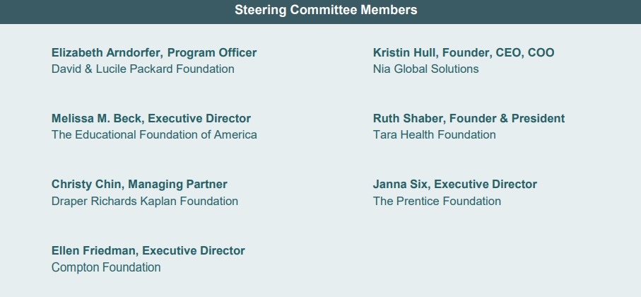 TARA Reproductive Health Investors Alliance Steering Committee