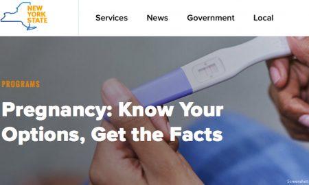 anti-pregnancy centers campaign NY