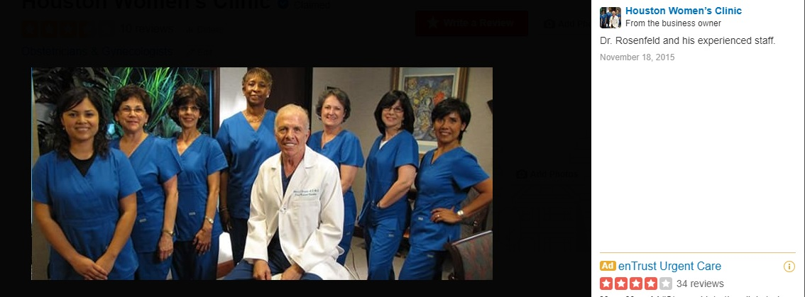 Abortionist Bernard Rosenfeld and the Houston Womens Clinic staff